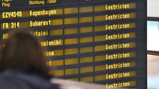 Fast alle Flüge in Berlin gestrichen