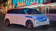 Mit viel Bling-Bling: Der Prototyp VW Budd-E