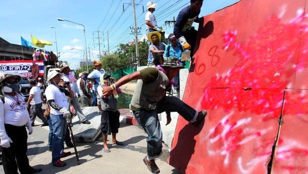 Verletzte bei Protesten in Bangkok