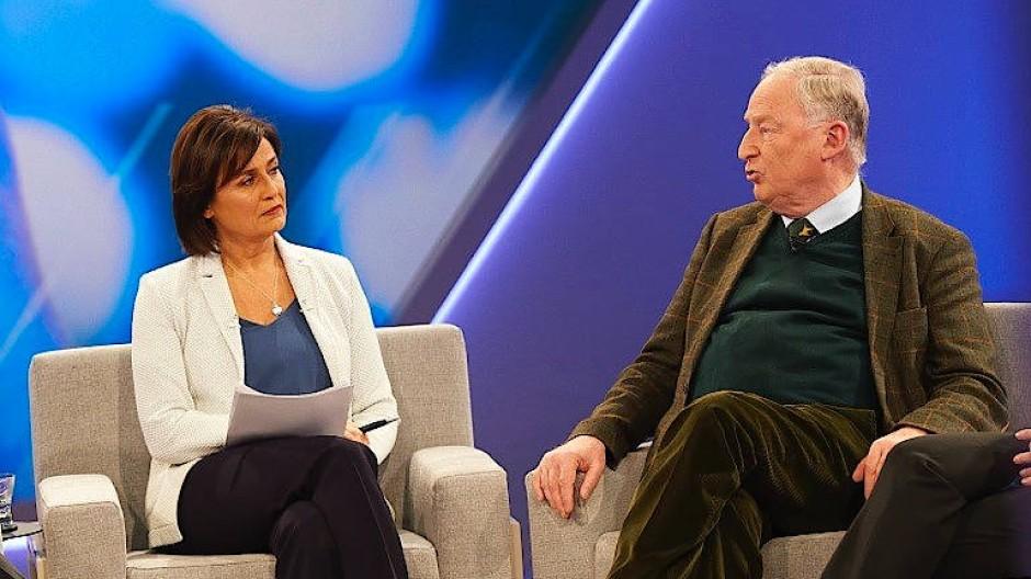 AfD-Vorsitzender Alexander Gauland im Gespräch mit Sandra Maischberger