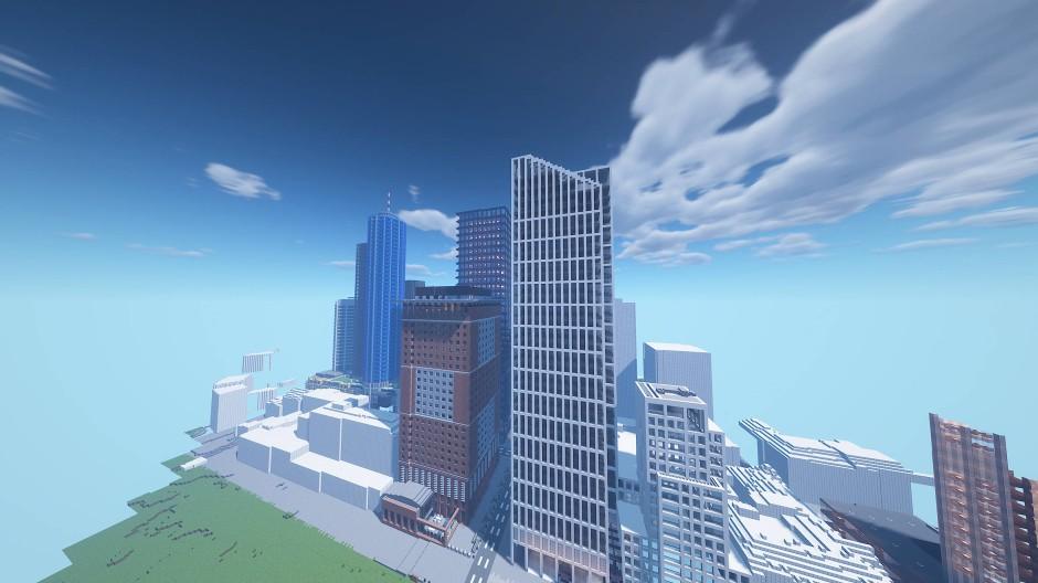 So sieht Frankfurt in Minecraft aus.