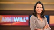 TV-Moderatorin Anne Will diskutierte am Mittwoch mit ihren Gästen über die Streiks der Piloten und Lokführer