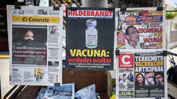 Perus Elite ließ sich heimlich früher impfen