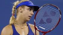 Enttäuschte Sabine Lisicki nach ihrer Niederlage gegen Maria Scharapowa