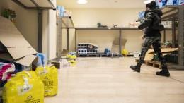 Leere Supermärkte in Coronavirus-Gebieten
