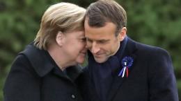 Merkel konnte, Macron musste
