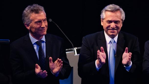 Präsident Macri schon in erster Runde deutlich unterlegen