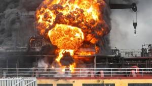 Explosion auf Öltanker in Südkorea