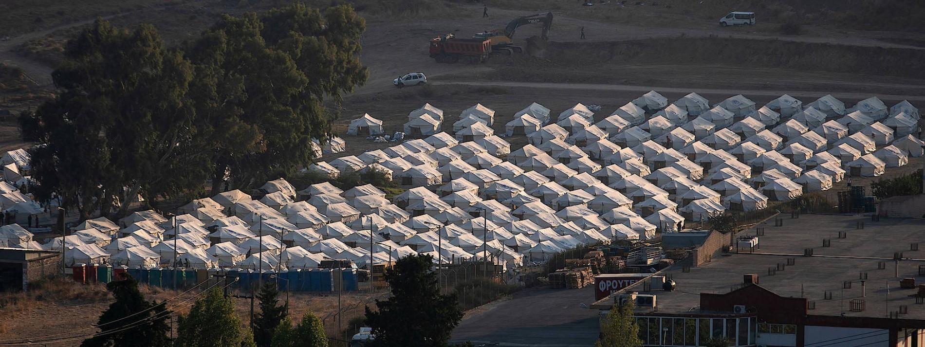 Neues Lager für Migranten auf Lesbos