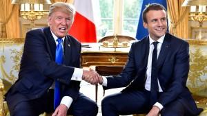 Macron hofft auf Trumps Sinneswandel