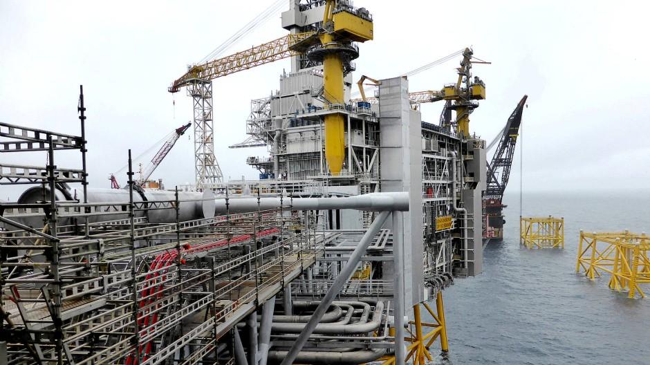 Reichtum des Nordens: Norwegische Ölplattform