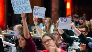 Union umgarnt und warnt die SPD