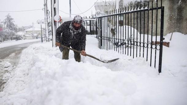 Heftigste Schneefälle seit Jahren