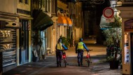 Verlassene Straßen: Sicherheitskräfte am 21. Januar im niederländischen Utrecht