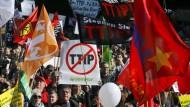 TTIP-Gegner demonstrieren am Samstag in Berlin.