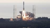 Die Atlas-V-Rakete beim Start am Donnerstag.