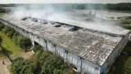Großbrand in Flüchtlingsunterkunft