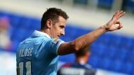 """Miroslav Klose: Gerade erst abgeschrieben, schon wieder zum """"Klosissimo"""" aufgestiegen"""