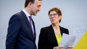 Hilflose CDU