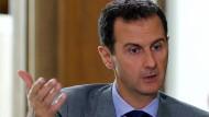 Syriens Präsident Baschar al Assad bei einem Interview mit der russischen Presse im Oktober