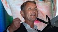 Björn Höcke beim Wahlkampfauftakt der AfD Thüringen