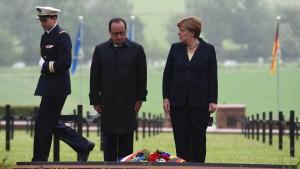 """Merkel und Hollande gedenken der """"Hölle von Verdun"""""""
