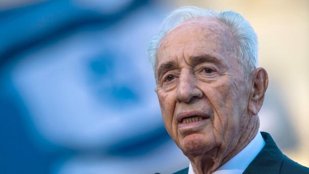 Israels früherer Präsident Peres erleidet Schlaganfall