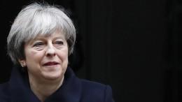 May am Morgen zu Brexit-Gesprächen in Brüssel