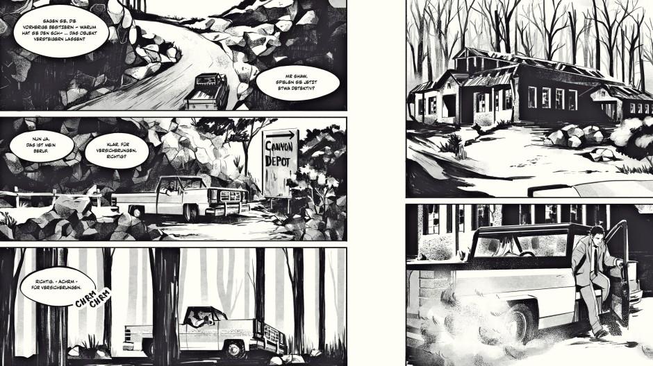 """Geschichte über das Älterwerden: Seiten aus dem Comic """"Rocky Beach"""" des Frankfurter Autors Christopher Tauber."""