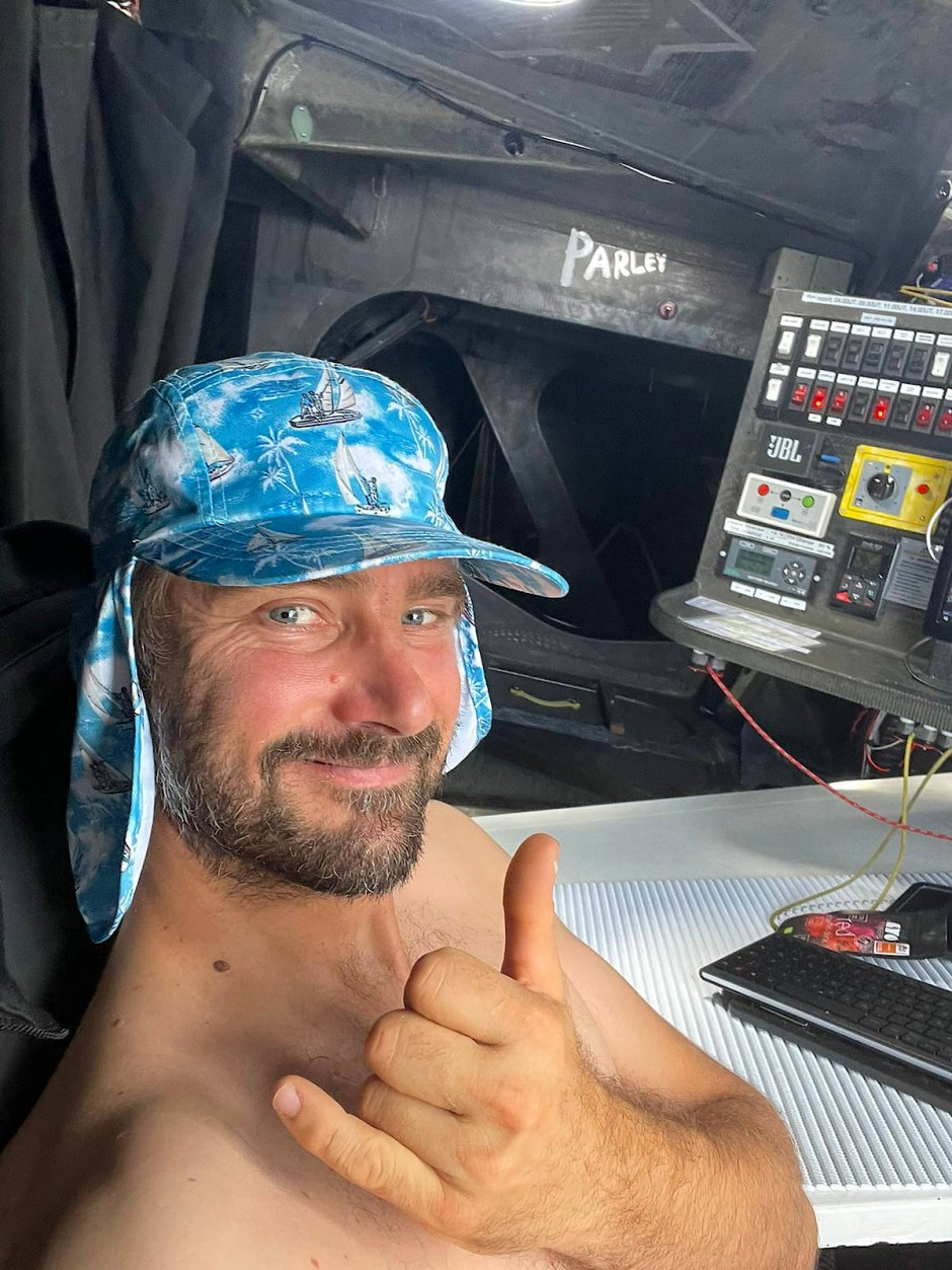 Selfie auf See: Boris Herrmann während der Vendée Globe
