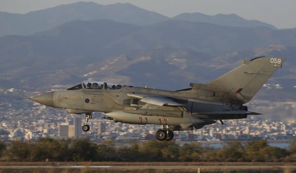 Mit tornado gr4 kfjets greift die britische luftwaffe is stellungen
