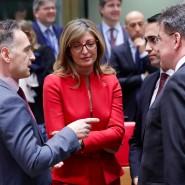 Bundesaußenminister Heiko Maas beim Treffen der EU-Außenminister am 10. Januar in Brüssel.