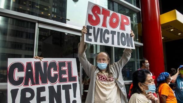 Hunderttausenden Amerikanern droht Wohnungsräumung