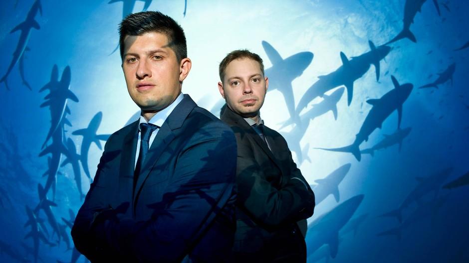 Die großen Pläne von Thomas Walter (links) und Thiemo Walt für eine Shark City stehen vor dem Aus.