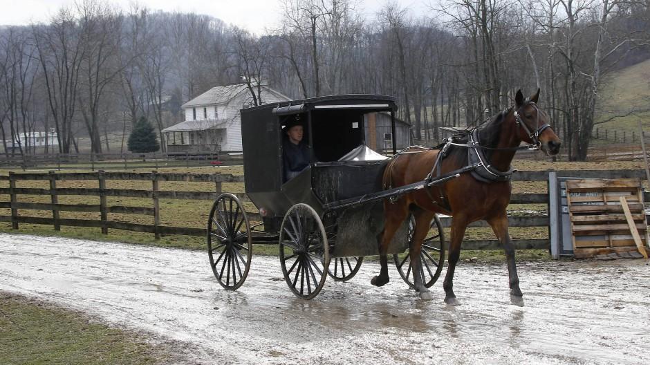 Archivbild von einem (bestimmt nüchternen) Amish in Ohio