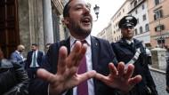 Einer der gefährlichsten Rechtspopulisten in Europa: Italiens Innenminister Matteo Salvini.