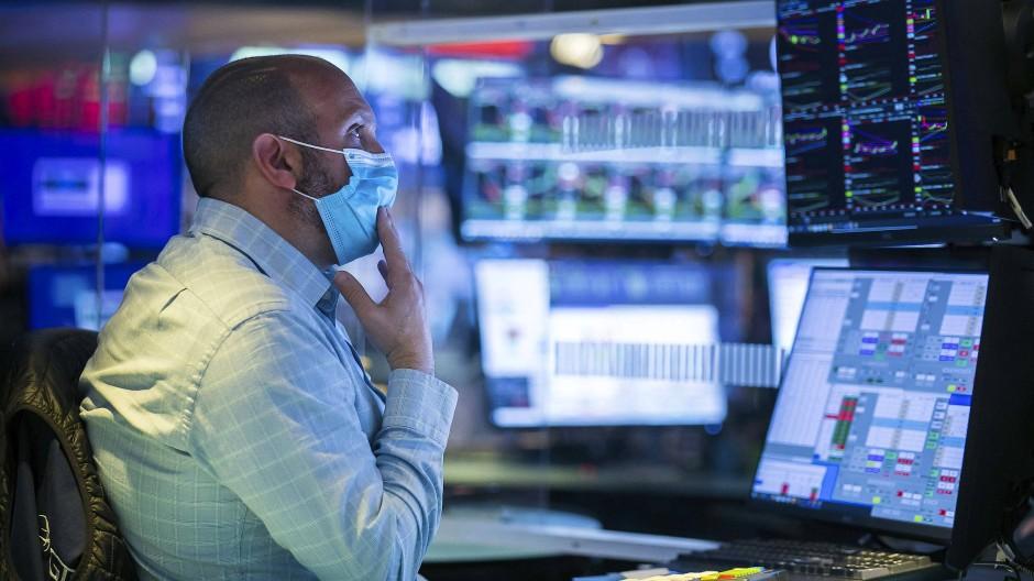 James Denaro, Börsenspezialist, bei der Arbeit