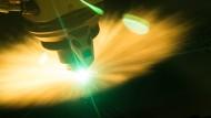 Zukunftsfähige Marktwirtschaft: Ein Laser des Unternehmens Trumpf