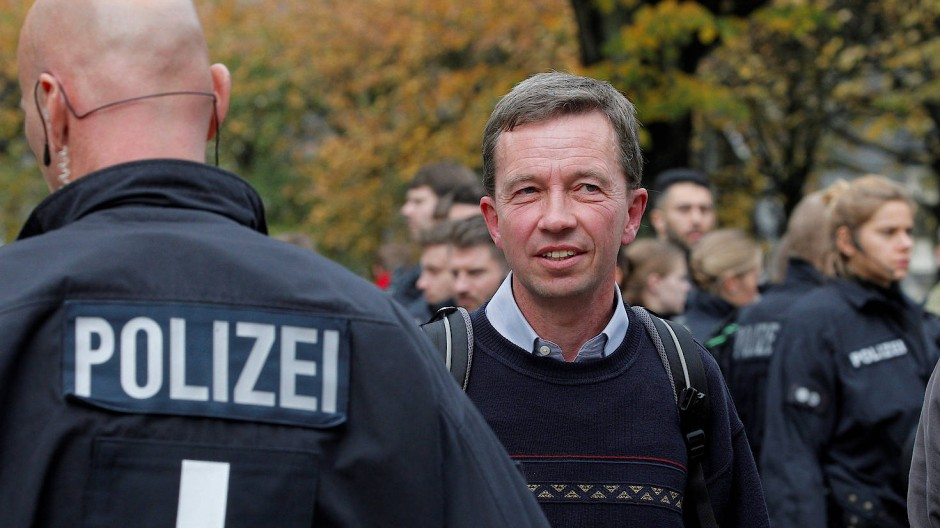 Bernd Lucke in der vergangenen Woche nach seiner verhinderten Antrittsvorlesung an der Universität Hamburg.