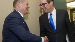Washington will Wegfall von Zöllen vorantreiben