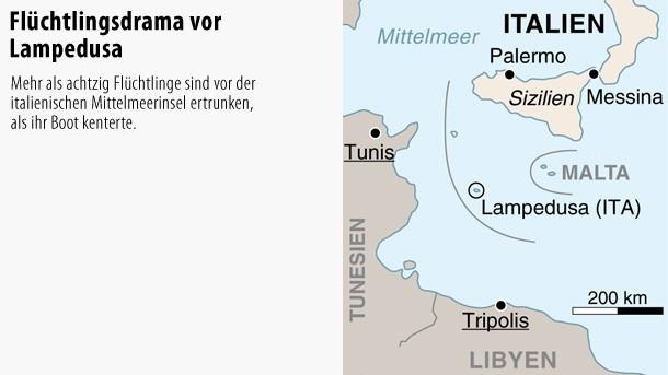 Italien Karte Lampedusa.Bilderstrecke Zu Bootsungluck Vor Lampedusa Europa