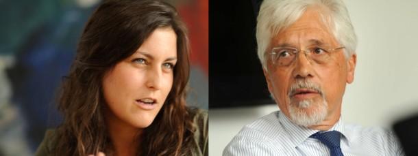 Hin und wieder sogar einer Meinung: Asta-Vorsitzende Myrella Dorn und Uni-Präsident Werner Müller-Esterl.