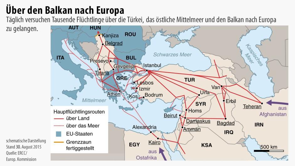 Flüchtlingsstrom Europa