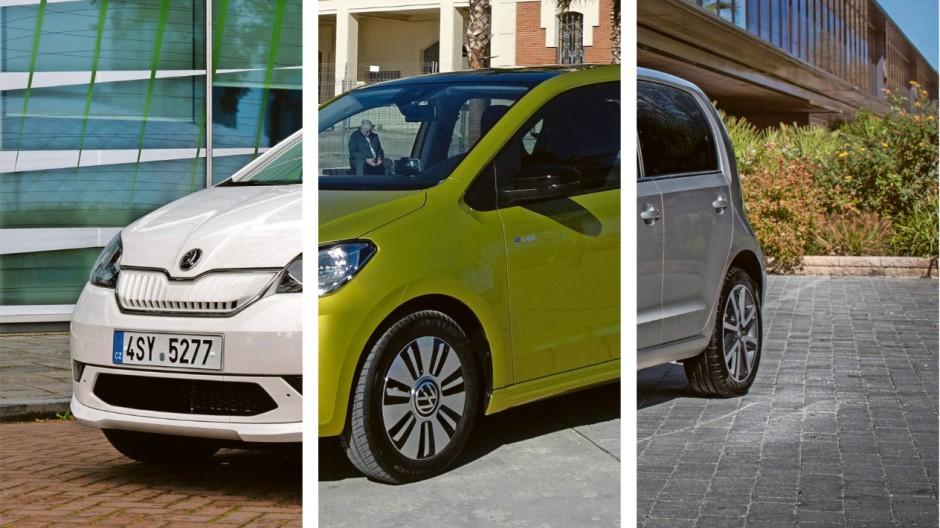 Wenn drei das Gleiche tun, ist es dasselbe: Škoda Citigo, VW Up und Seat Mii treten als Elektriker-Einheit auf.