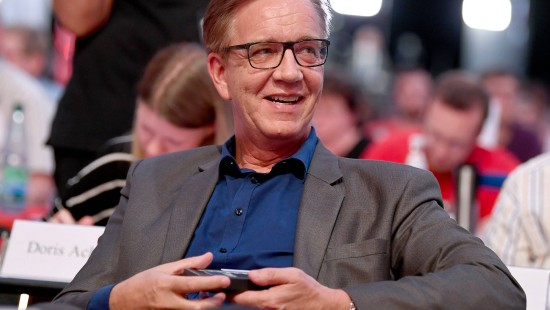 Linken- Fraktionschef Bartsch gelassen