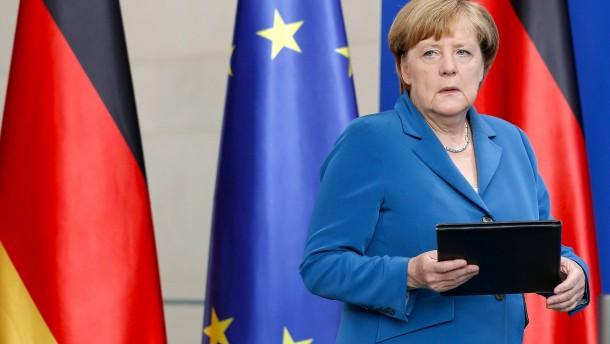Merkel unterbricht Urlaub für Ansprache