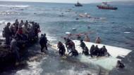 Rettung in einem europäischen Meer