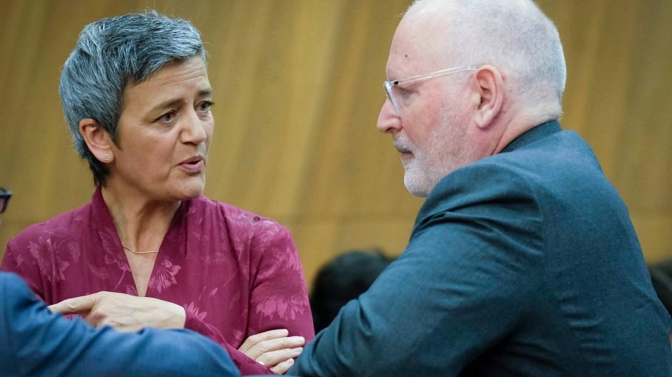 Sollen eine gewichtige Rolle in der EU-Kommission spielen: Margarethe Vestager und Frans Timmermanns