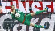In der Champions-League hat er mehr zu tun als in der Liga: Bayern Münchens Torhüter Manuel Neuer