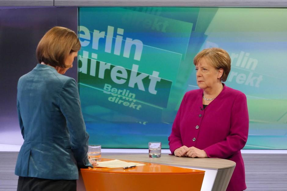 """Hat sie """"verstanden""""? Im ZDF-Interview kündigte Angela Merkel am Sonntag an, hoffnungsvollen Nachwuchspolitikern aus den eigenen Reihen eine Chance zu geben"""